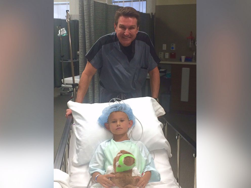 PHOTO: Gage Berger, 6, is pictured here before getting ear pinning surgery in Salt Lake City, Utah, done by Dr. Steven Mobley of the Mobley Founation for Charitable Surgery.