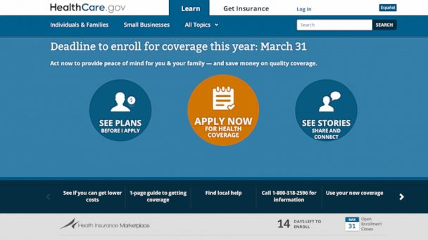 PHOTO: The deadline to sign up for health insurance is March 31, 2014.