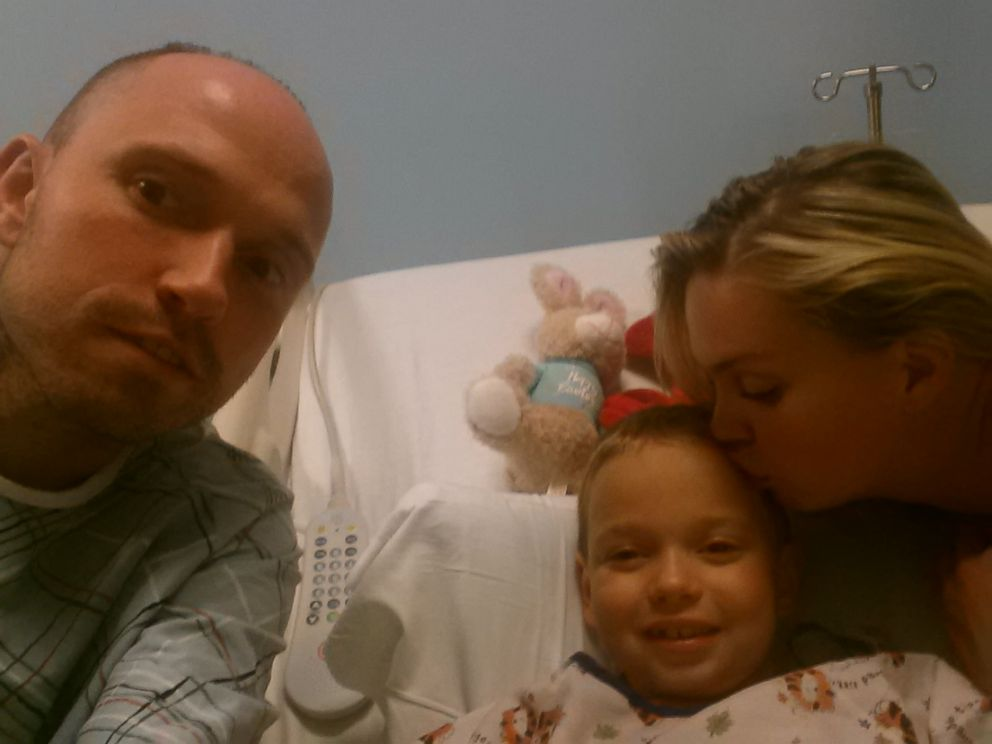 PHOTO: Matt Wolf donated a kidney to his son Haiden, then 7