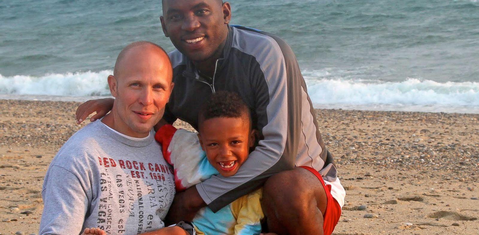 PHOTO: Philip McAdoo, his partner, Sean Cavanaugh, and their son Zaden.