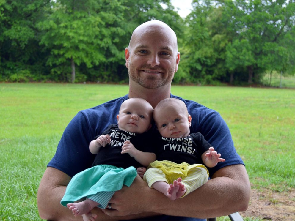 PHOTO: Sharon and Korey Rademacher decided to surprise their friends and family with secret twins when they found out they would be having not one, but two children.