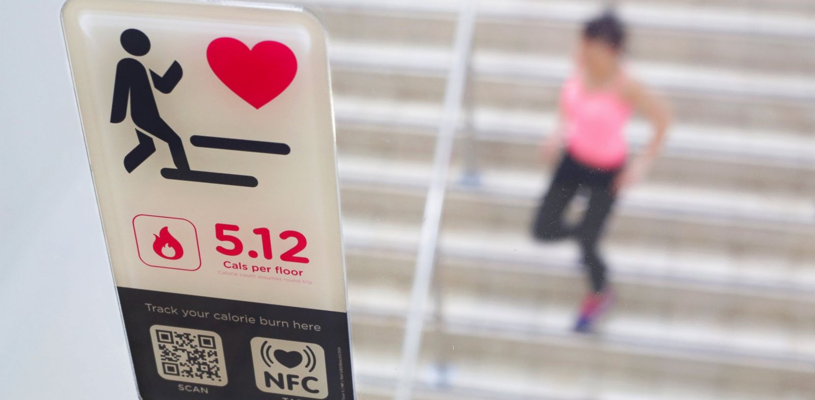 PHOTO: Office workers will have a chance to see how many calories they burn by taking the stairs.