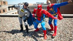 PHOTO: Most days, these men are normal guys. But on Wednesday, they were superheroes.