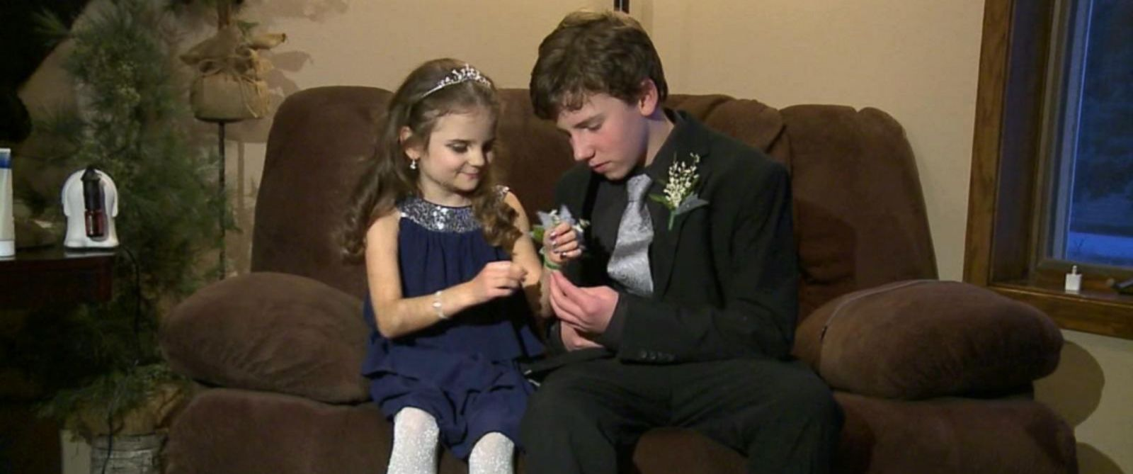 PHOTO: AJ Spader took his sister to his first high school formal so that she could have the experience of going to a high school dance.