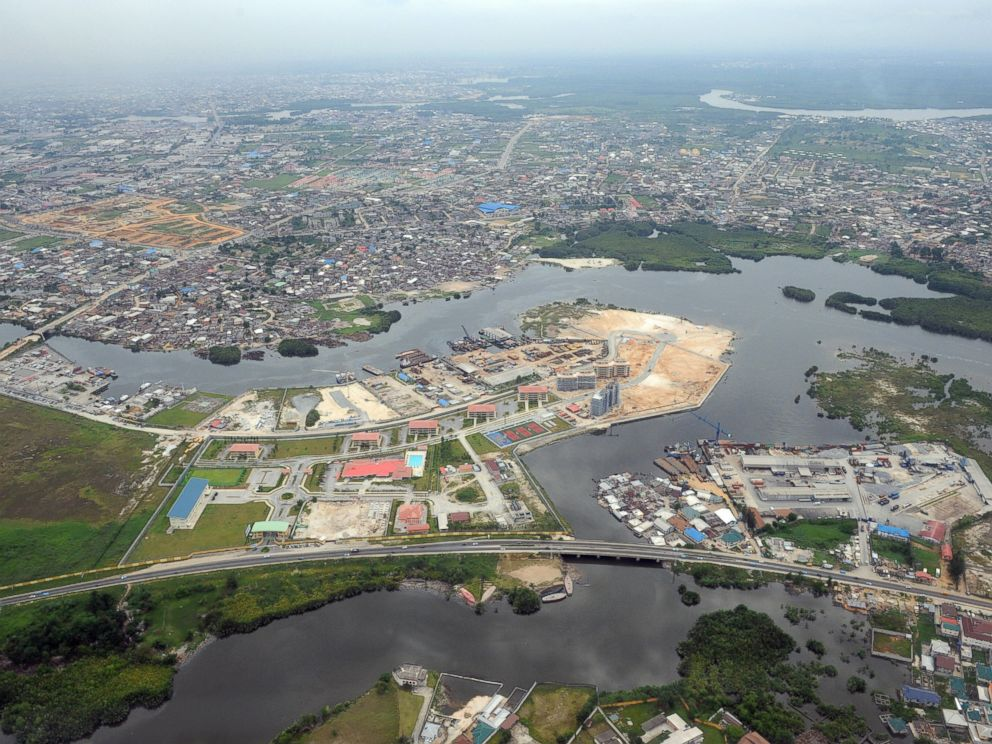 PHOTO: An aerial view of Port Harcourt in River State, the commercial capital Niger Delta