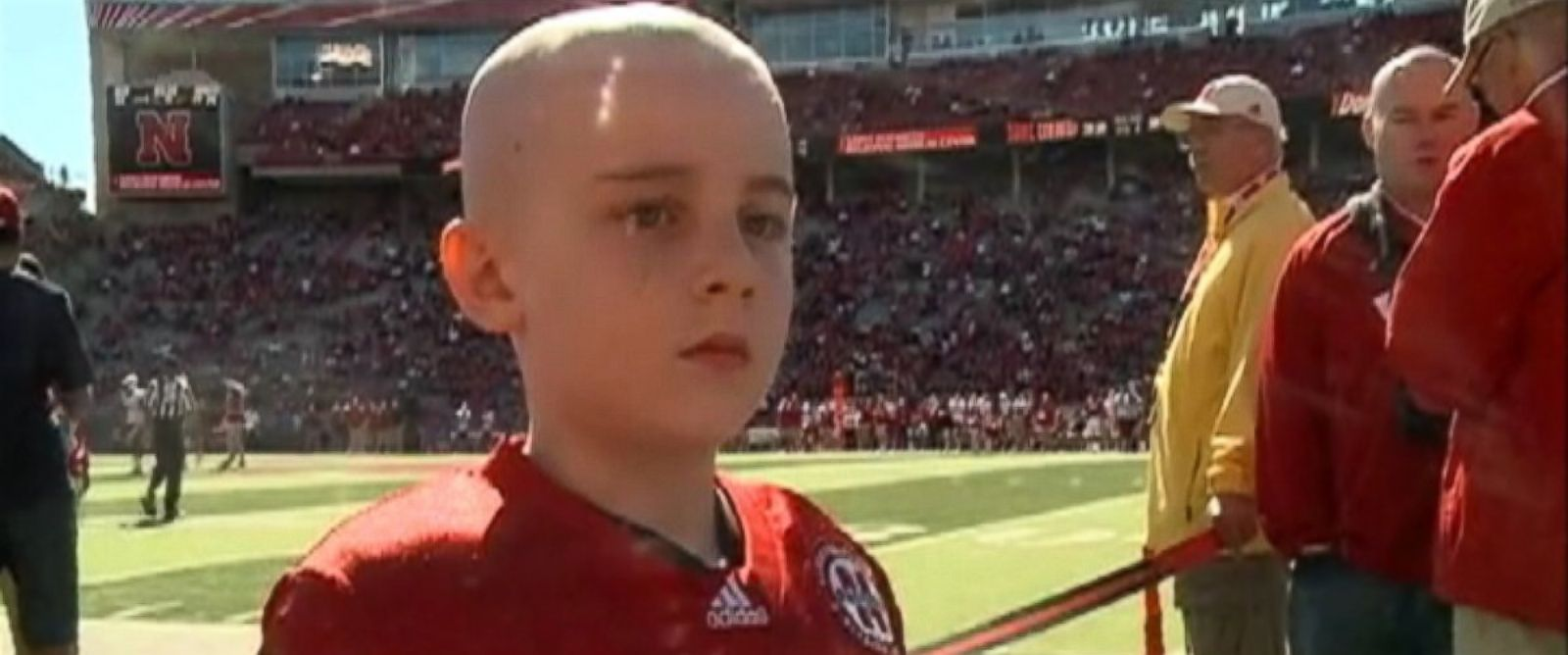 PHOTO: Jack Hoffman, 7-year-old cancer patient scores 69-yard touchdown at Nebraska Spring Game.