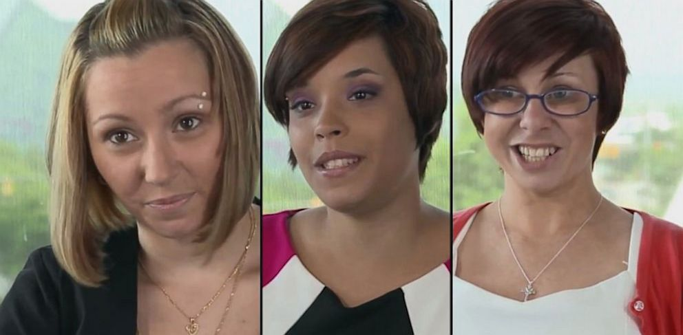 PHOTO: Amanda berry, Gina DeJesus and Michelle Knight, the three women who were held captive in a Cleveland home, posted a video on Youtube, thanking everyone for their support, July 9, 2013.
