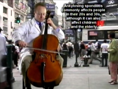 VIDEO: Dr. Eric Roter plays the cello to raise awareness about ankylosing spondylitis.
