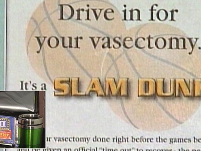 Video: Health clinic runs vasectomy promotion.