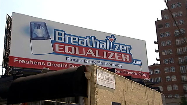 PHOTO: Billboard for Breathalyzer Equalizer is is riling residents.