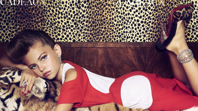 PHOTO: Thylane Lena Rose Blondeau appears with adult look in Parisian issue of Vogue.