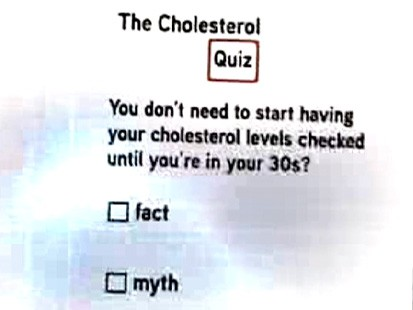 VIDEO: Quiz: Checking Cholesterol Levels