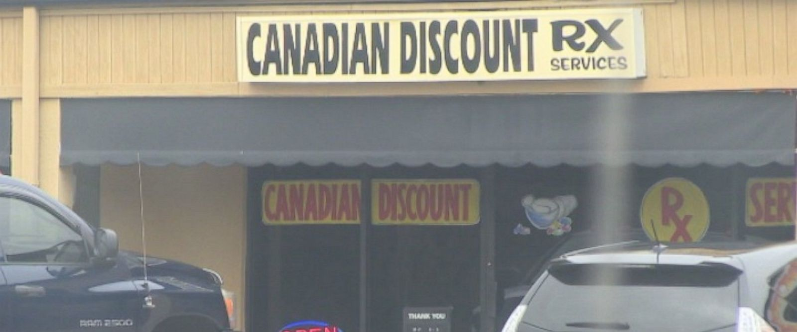 An image of the Canadian Discount Rx storefront in Belleview, Florida.