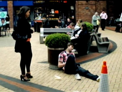 VIDEO: Alcohol PSa shows man acting foolishly on the street.