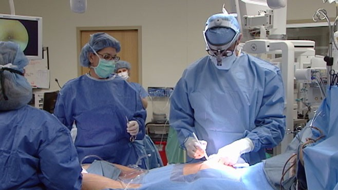 VIDEO: A rare look to see what happens during heart bypass surgery.