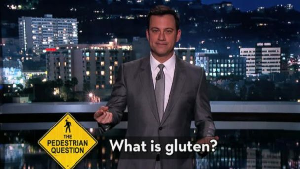 VIDEO: Jimmy Kimmel tests gluten-free peoples knowledge about the substance theyre avoiding.