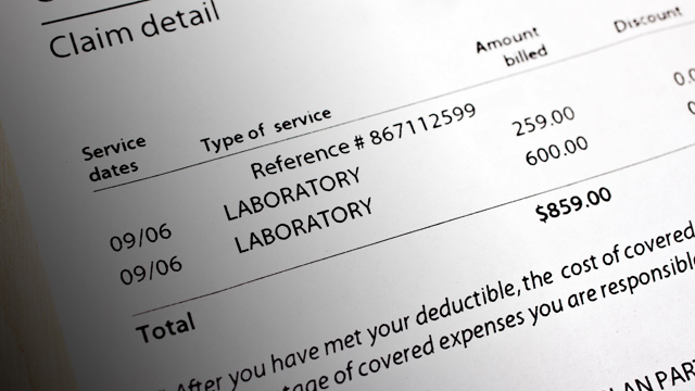 PHOTO: Expensive medical bill