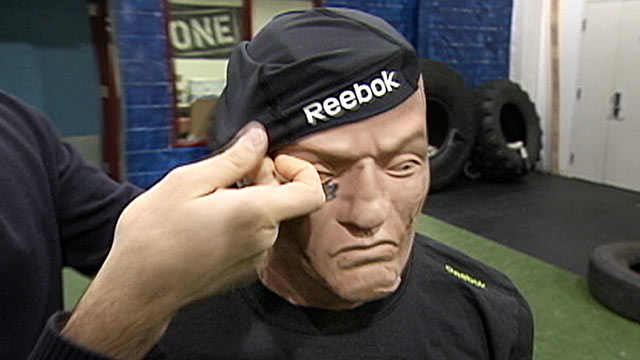 PHOTO: Reebok and the electronics company MC10 have teamed up to create a mesh cap, developed to warn athletes of imminent concussion and brain damage from blows to the head.