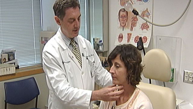 PHOTO:Erin Martin of Wilmington, Del., endured three months without a voice until the Cleveland Clinic?s Dr. Claudio Milstein massaged her vocal cords.