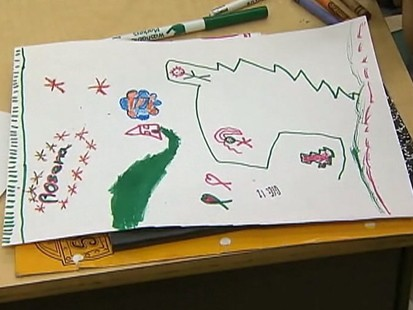 VIDEO: Some Florida students are creating art to help cope with the disaster in Haiti.