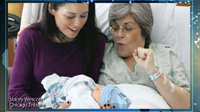 VIDEO: 61-year-old Kristine Casey serves as surrogate for her daughters child.
