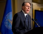 PHOTO: The National Rifle Association executive vice president Wayne LaPierre, speaks during a news conference, Dec. 21, 2012 in Washington.