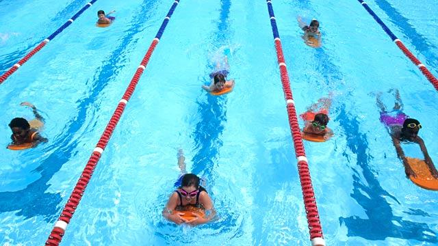 PHOTO: Children learning to swim