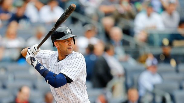 PHOTO: Derek Jeter of the New York Yankees in action against the Oakland Athletics at Yankee Stadium on June 5, 2014 in the Bronx borough of New York City.