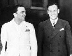 PHOTO: J. Edgar Hoover, left, with his then assistant Clyde Tolson in Miami Beach, FL., Oct. 30 1938.