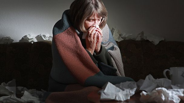 PHOTO: Woman with the flu