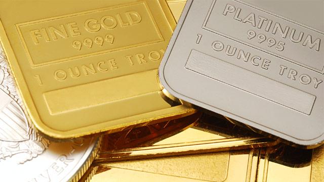 PHOTO: Gold and platinum