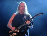 PHOTO: Jeff Hanneman of Slayer performs onstage during The Big 4 held at the Empire Polo Club on April 23, 2011 in Indio, Calif.