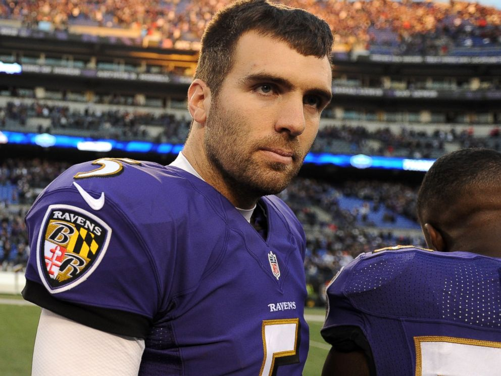 PHOTO: Quarterback Joe Flacco of the Baltimore Ravens looks on after losing to the San Diego Chargers at M&T Bank Stadium on Nov. 30, 2014 in Baltimore, Md.