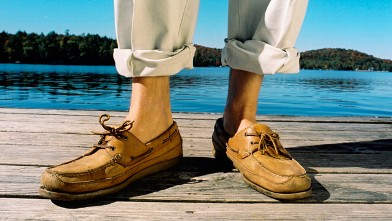 PHOTO: A man in moccasins is seen in this undated file photo.