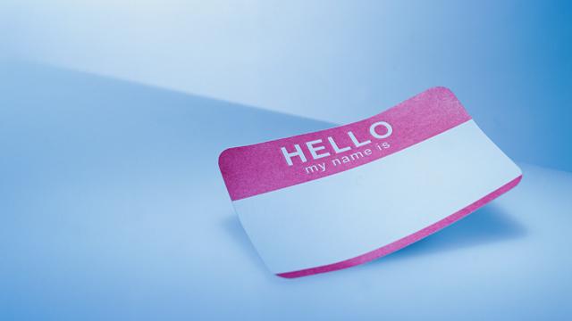 PHOTO: Hello My Name is sticker