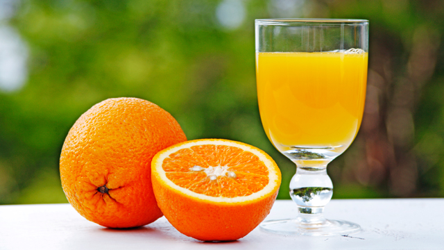 PHOTO: A fresh glass of orange juice and oranges are seen here in this undated photo.