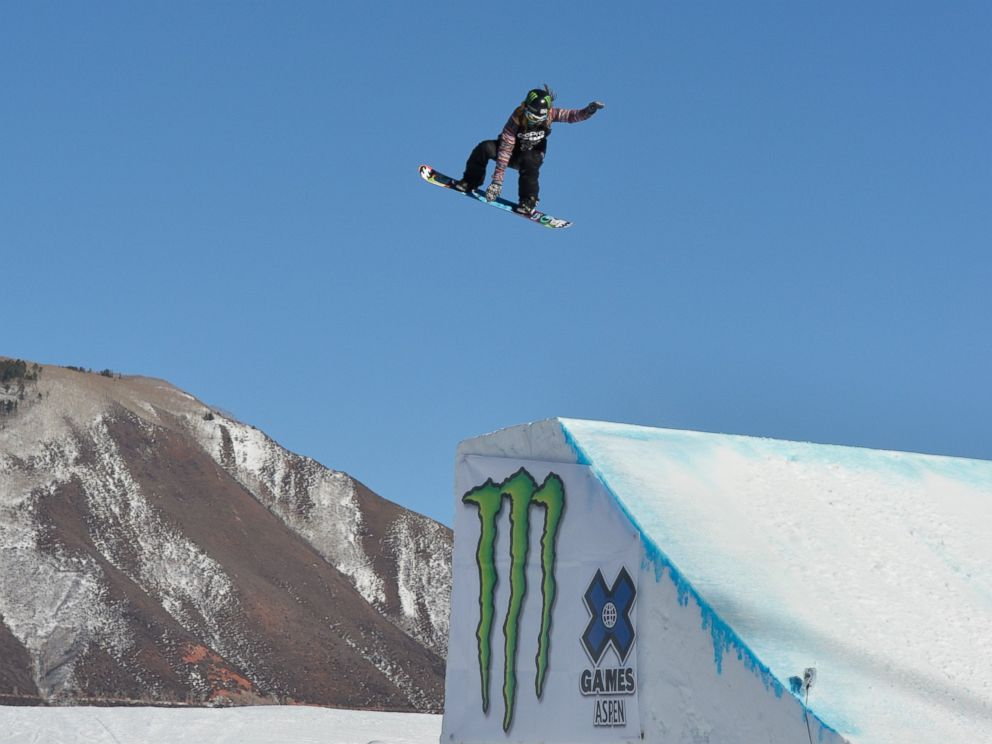 PHOTO: Jamie Anderson soars en route to a silver medal in the womens snowboard slopestyle Winter X-Games 2014 at Buttermilk Mountain on Jan. 25, 2014 in Aspen, Colo.