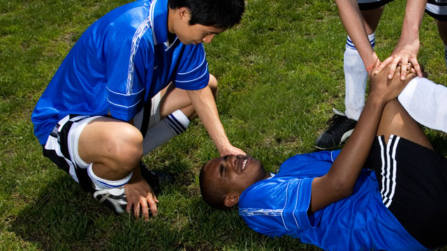 PHOTO: A recent study of concussions suffered by a dozen young athletes found that some boys and girls 11 to 15 who played soccer, football or wrestled still had reduced blood flow to their brains a month after their injuries.