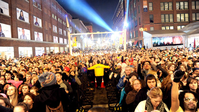 PHOTO: Atmosphere at the Super Bowl Village on Feb. 3, 2012 in Indianapolis, Indiana.
