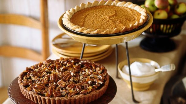 Pumpkin pie typically contains fewer calories than pecan pie.
