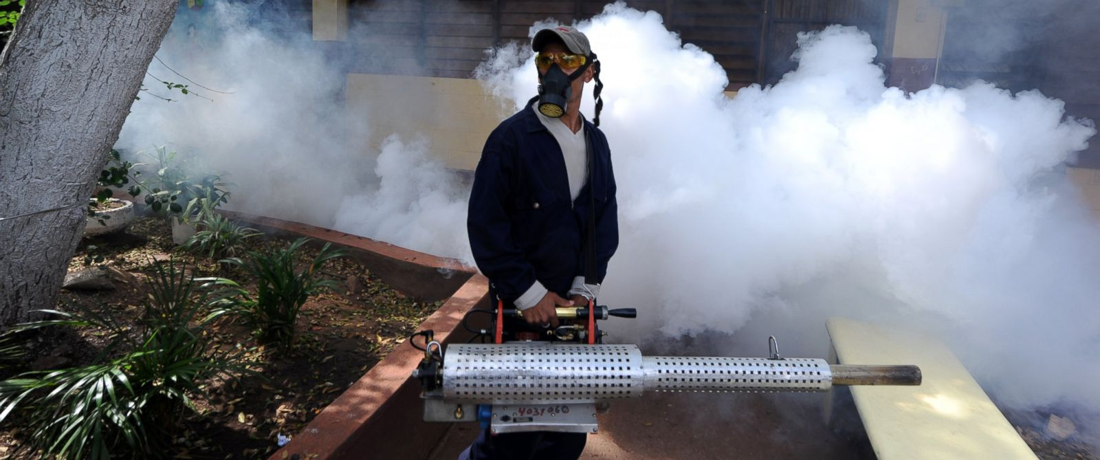 PHOTO: Health ministry personnel fumigate against the Aedes aegypti mosquito in Tegucigalpa, Honduras, Feb. 1, 2016.