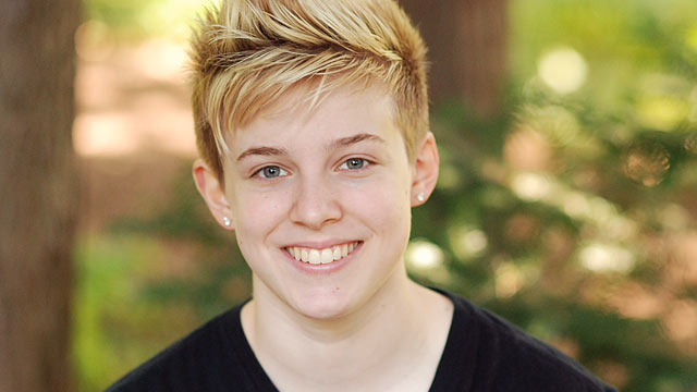 PHOTO: Chase Stein, a 17-year-old lesbian activist, is shown in her senior portrait.