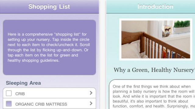 PHOTO: Screen shots of the peaceful nursery app for iPhone