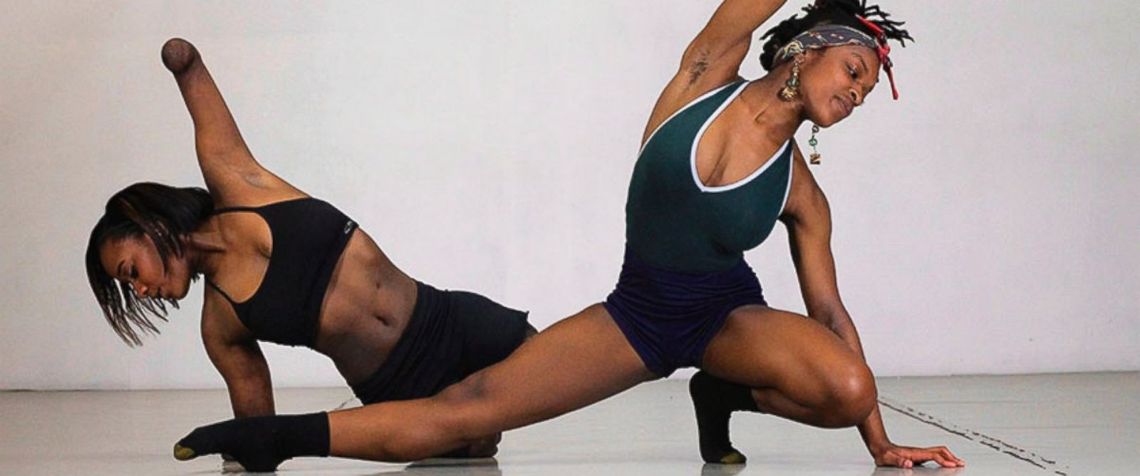 Uriah Boyd and Kiera Brinkley performed together during a dance performance in Portland, Oregon.