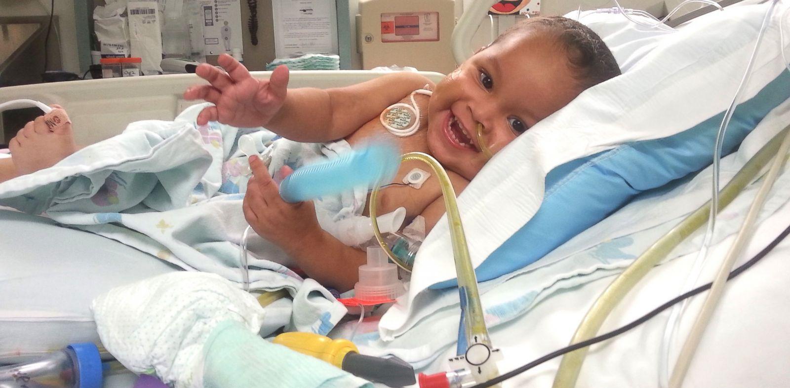 PHOTO: Adonis Ortiz smiles after multiple organ transplant surgery at Jackson Memorial Hospital in Miami.