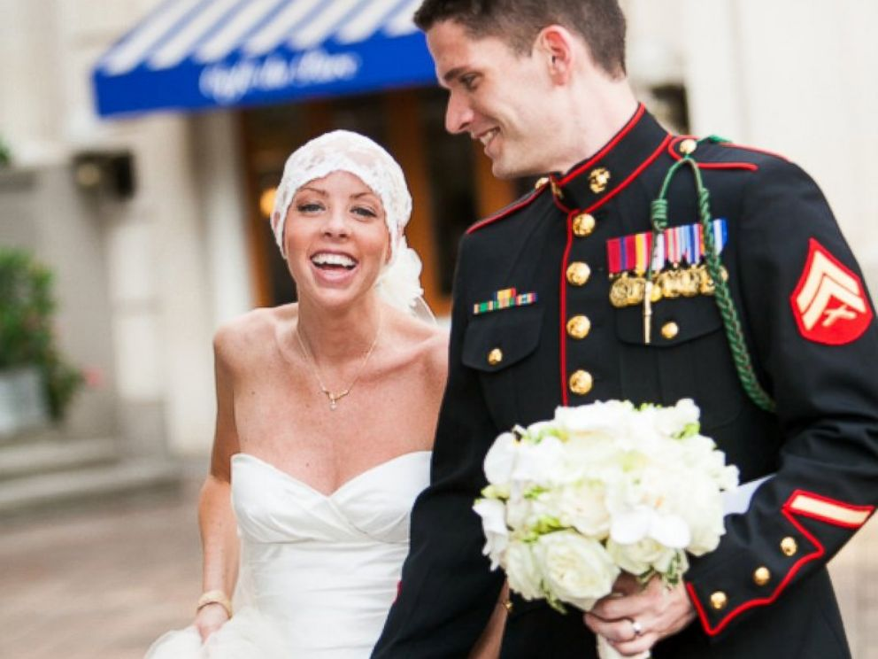 PHOTO: Jones married Jeff OHara last July between cancer treatments.