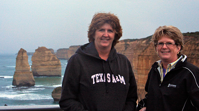"""PHOTO: Encephalitis survivor Becky Dennis, right, and her sister, Angela Martin, visited Australia as Dennis sought to """"live life fast while fighting for normalcy."""""""