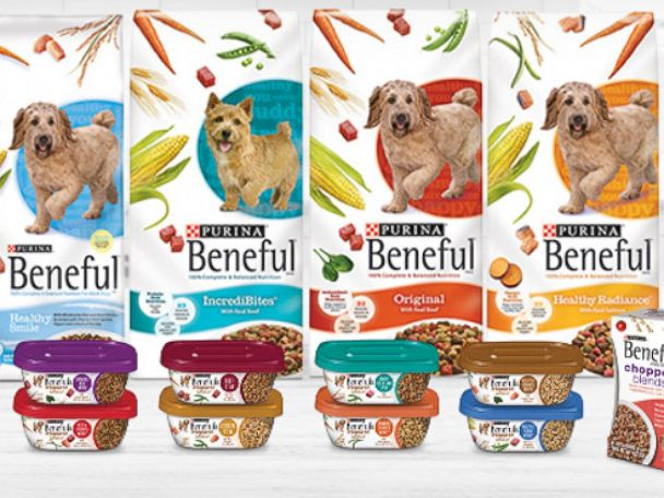 PHOTO: An undated photo from Nestle Purina shows some of the Beneful dog food product line.