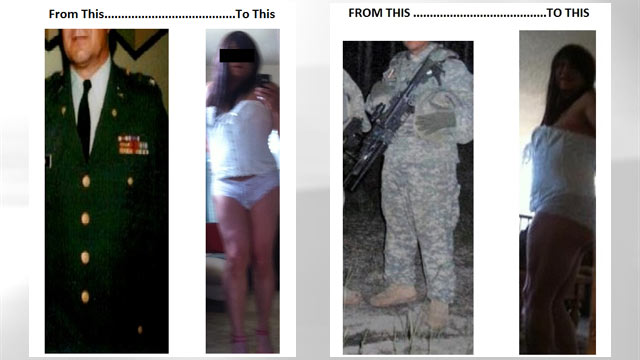 PHOTO: This 51-year-old former Army medic is addicted to online sex dressed as a woman.