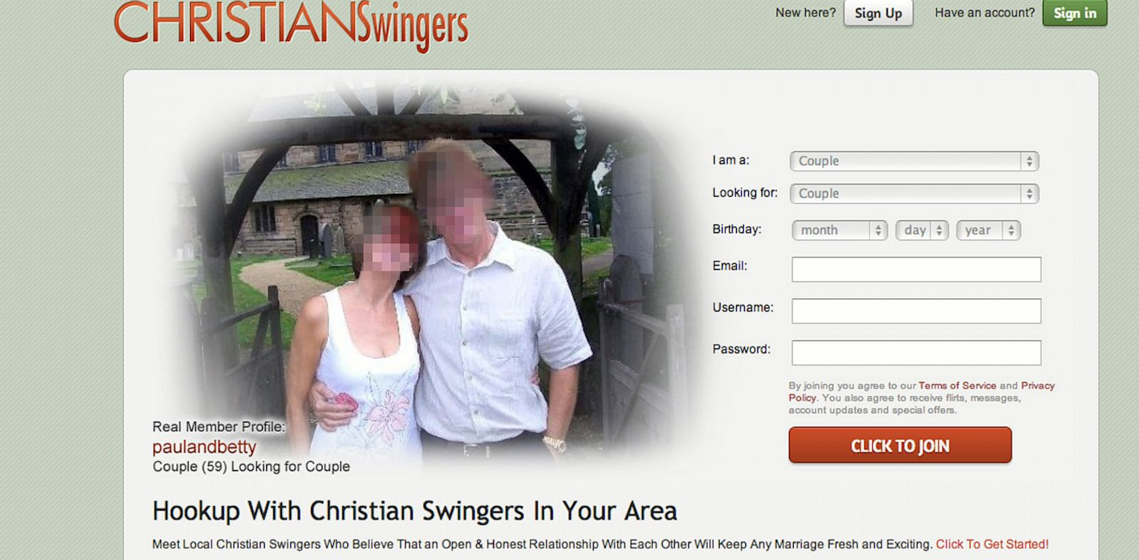swingers dating website